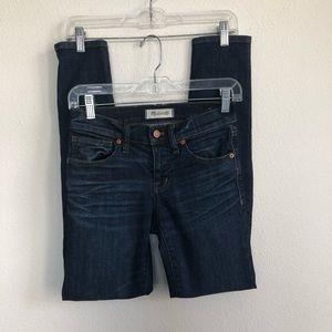 "madewell 8"" inseam skinny stretch denim jeans 24"